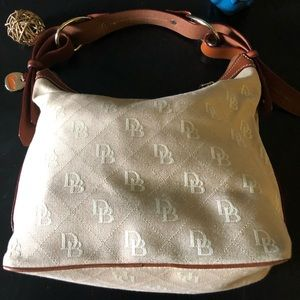 Dooney & Burke Jacquard and Leather Bucket Bag